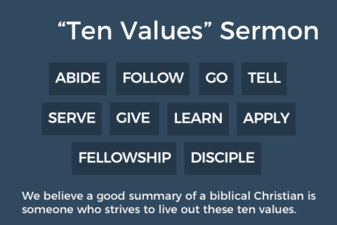SGCC 10 Values: Abide, Mark 12:28-34
